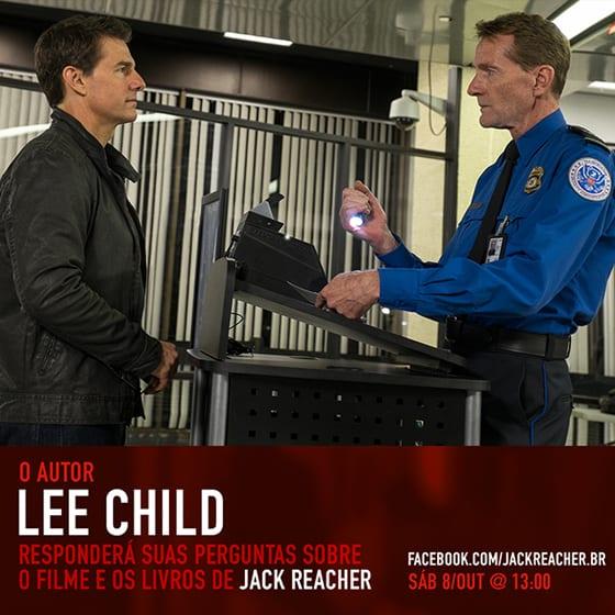 Jack Reacher: Sem Retorno | Entrevista com autor será transmitida ao vivo pelo Facebook