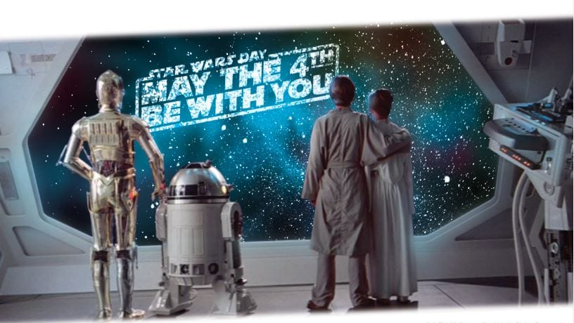 Comemore o dia 4 de maio, esse é o dia de Star Wars