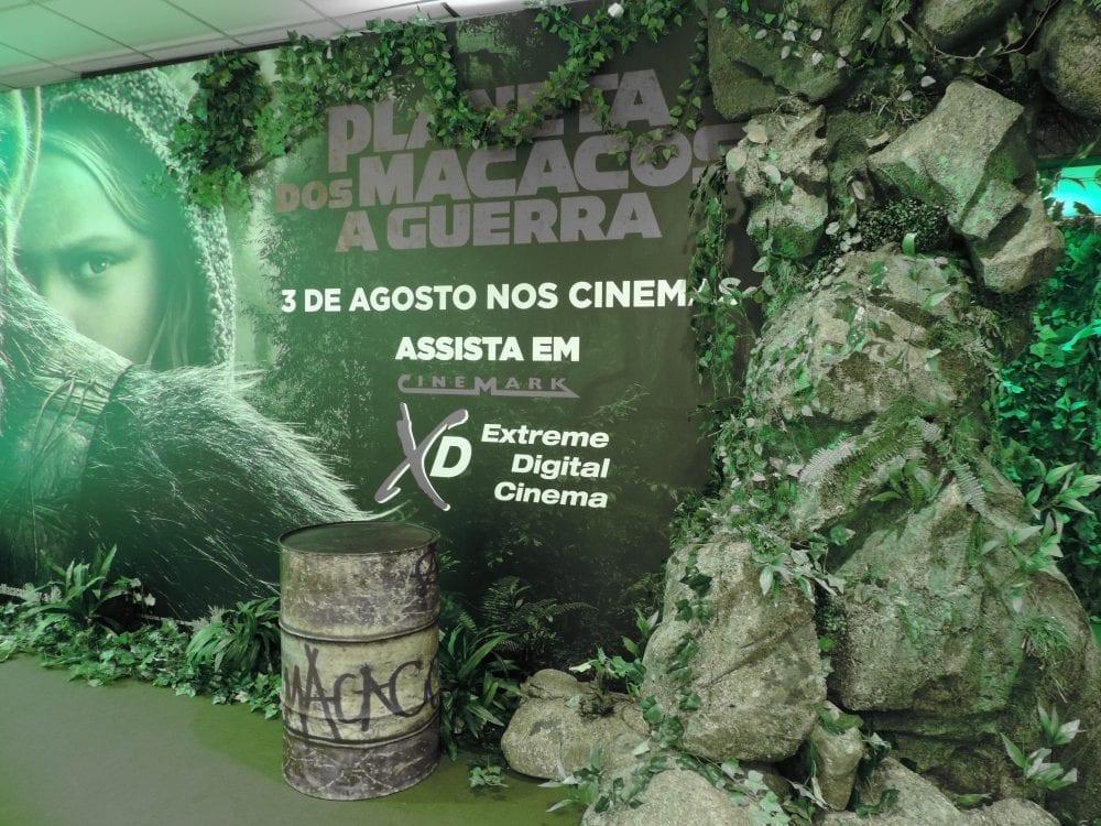 Em sala temática, Cinemark realiza maratona da série 'Planeta dos Macacos'
