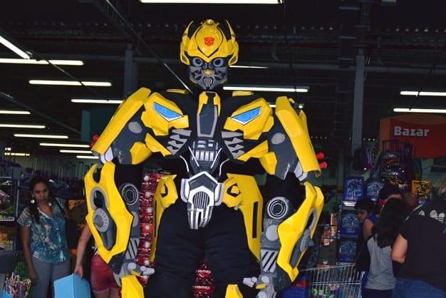 Transformers Bumblebee desembarca no Plaza Shopping Itu neste sábado, dia 28