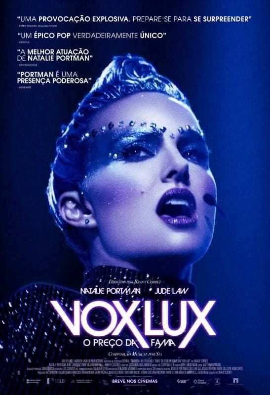 'Vox Lux – O Preço Da Fama': Natalie Portman estampa cartaz oficial e brilha no primeiro trailer