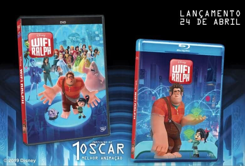 WIFI RALPH da Disney será lançado em Blu-ray e DVD em 24/abril no Brasil