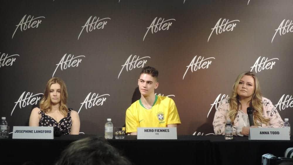 Ouça a entrevista com Hero Fiennes Tiffin, Josephine Langford e Anna Todd