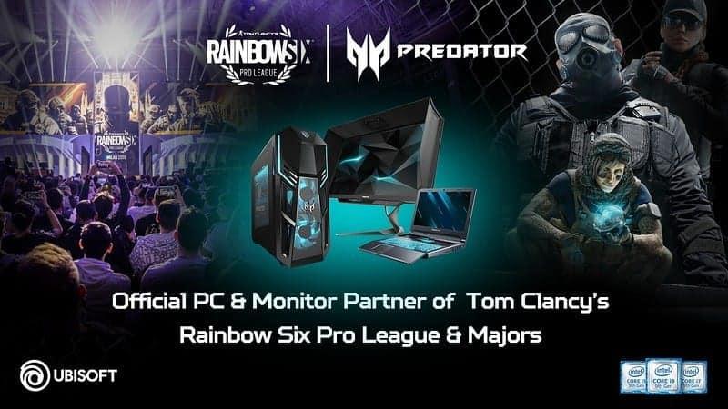 Ubisoft anuncia renovado Tom Clancy's Rainbow Six Pro League Season X com patrocínio Acer Predator