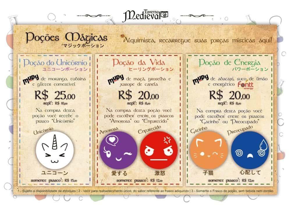 Taverna Medieval leva poções especiais para Anime Friends São Paulo