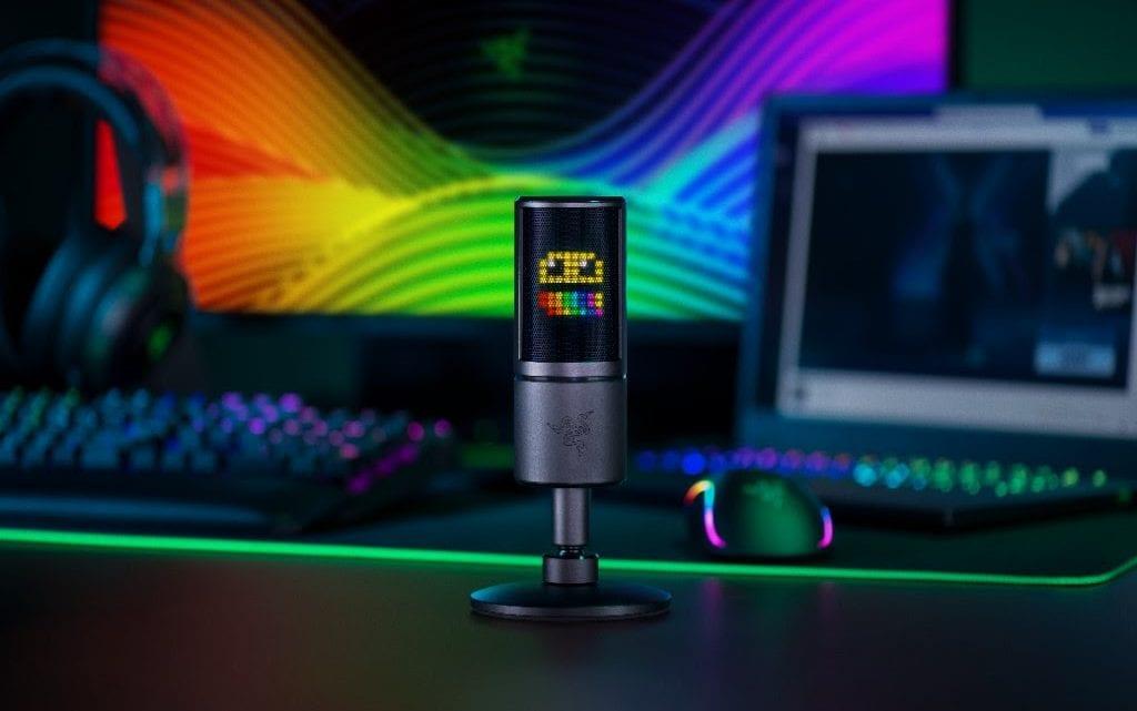 Razer lança o primeiro microfone para streamers do mundo que reage com emoticons às interações do público