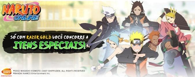 Razer Gold sorteia mais de 180 códigos com itens especiais de Naruto Online