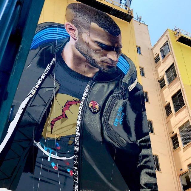 Cyberpunk 2077 recebe homenagem em mural em São Paulo