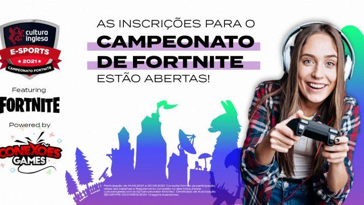 Cultura Inglesa promove primeiro campeonato de Fortnite aberto ao público